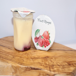 Flan fermier fruits rouges 120g
